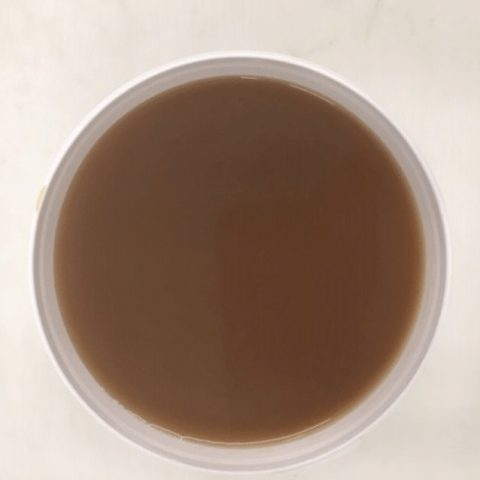 beef stock on white background