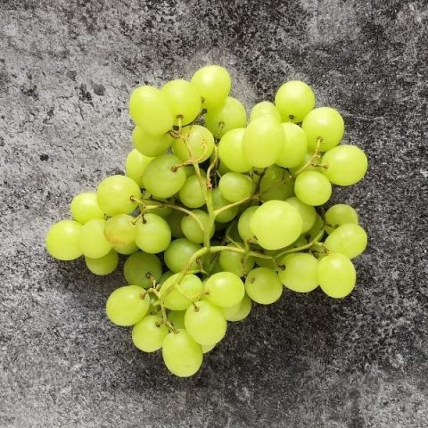 green seedless grapes on black background
