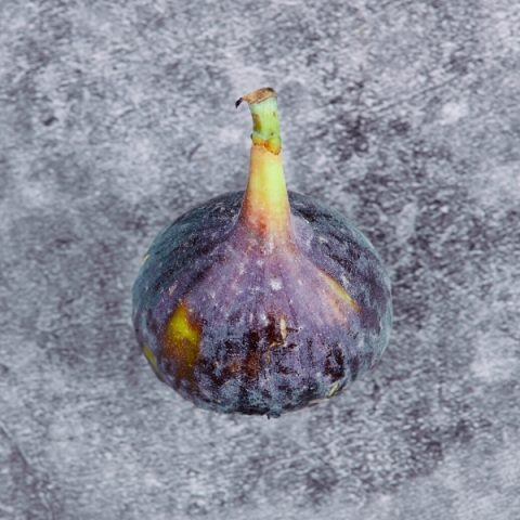 Fig on a black marble table